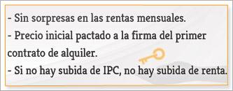 UNICA SUBIDA DE RENTA: IPC